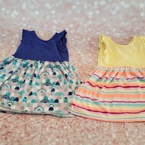 EUC Gymboree Sleeveless Cotton Dress Set